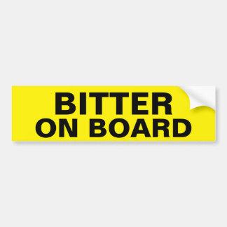 bitter car bumper sticker