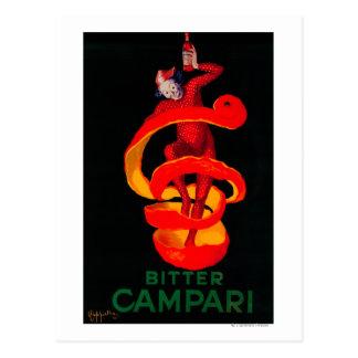 Bitter Campari Vintage PosterEurope Postcard