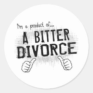 bitter divorce classic round sticker