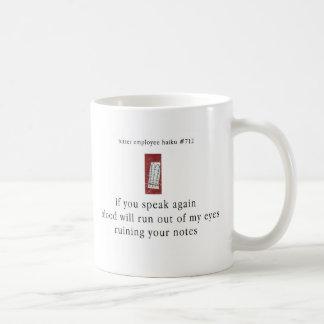 Bitter Employee Haiku 712 Coffee Mug