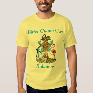 Bitter Guana Cay, Bahamas with Coat of Arms T Shirt