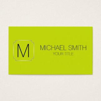 Bitter lemon color background business card