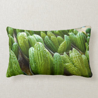 Bitter Melon Cucumber City Market Kansas City Lumbar Pillow