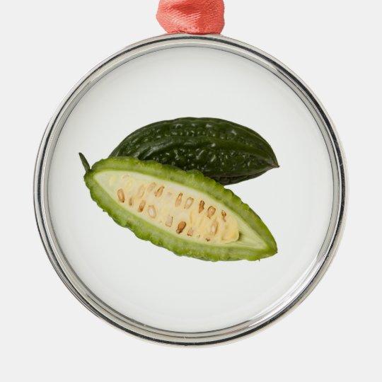 Bitter melon metal ornament