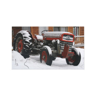 Bitter Old Tractor Gallery Wrapped Canvas