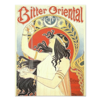 Bitter Oriental art nouveau Custom Invites