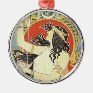 Bitter Oriental art nouveau Metal Ornament