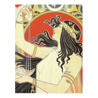 Bitter Oriental art nouveau Postcard