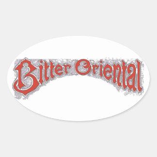 Bitter Oriental Oval Sticker