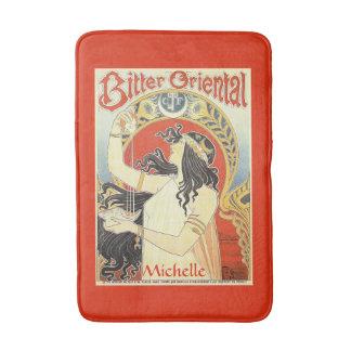 """Bitter Oriental"" Vintage Ad custom name bath mat"