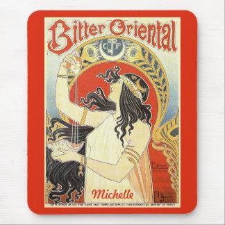 """Bitter Oriental"" Vintage Ad custom name mousepad"