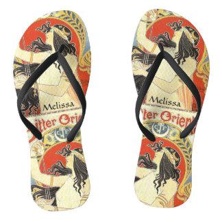 """Bitter Oriental"" Vintage Ad custom name sandals"