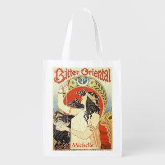 """Bitter Oriental"" Vintage Ad custom reusable bag"