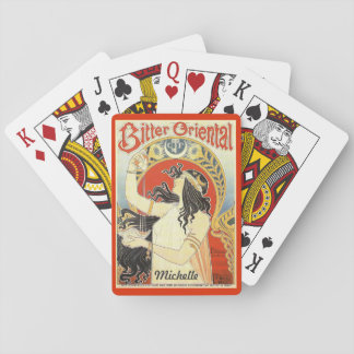 """""""Bitter Oriental"""" Vintage Ad playing cards"""