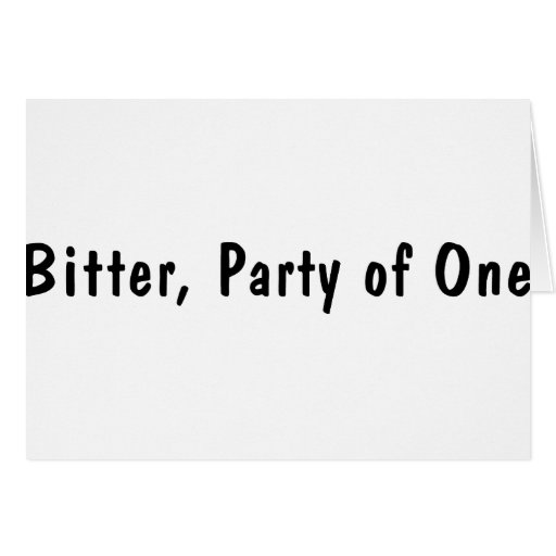 Bitter Part Of One Card