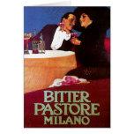 Bitter Pastore Milano Vintage Wine Drink Ad Art Greeting Card