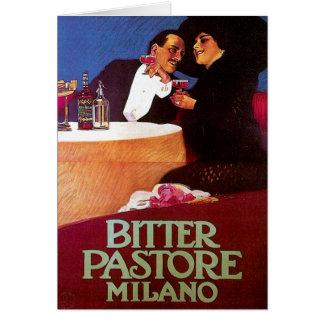 Bitter Pastore Milano Vintage Wine Drink Ad Art Card