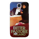 Bitter Pastore Milano Vintage Wine Drink Ad Art Samsung Galaxy S4 Cover