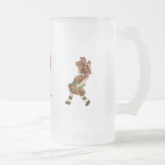 Bitter-Sweet Frosted Glass Beer Mug