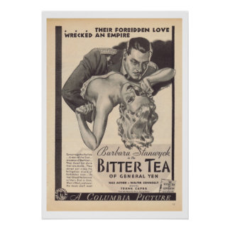 Bitter Tea of General Yen movie Barbara Stanwyck Poster