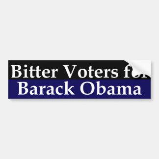 Bitter Voters for Barack Obama Bumper Sticker Car Bumper Sticker