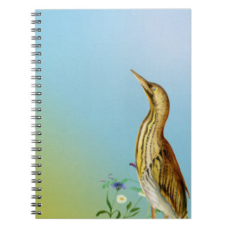 Bittern Bird Painted in Watercolours Notebook