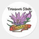 Bitterroot del estado del tesoro de Montana Pegatinas Redondas