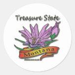 Bitterroot del estado del tesoro de Montana Pegatina Redonda