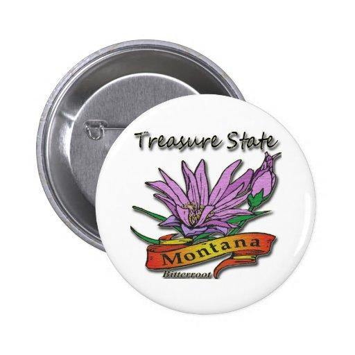Bitterroot del estado del tesoro de Montana Pins