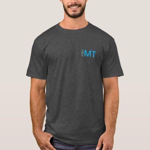 Bitterroot Lake MT dark shirt _ design on back
