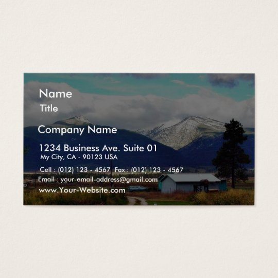 Bitterroot Mountains Parents Farm Business Card