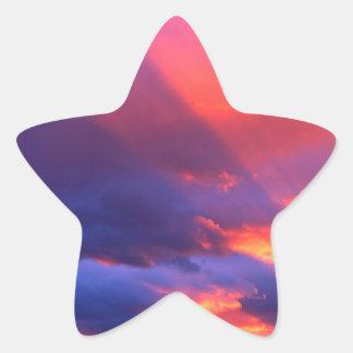 Bitterroot que despierta espiritual Montana del Pegatina Forma De Estrella Personalizadas