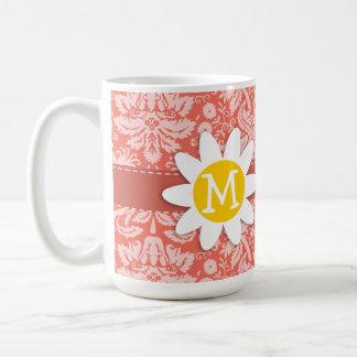 Bittersweet Color Damask Pattern; Daisy Mug
