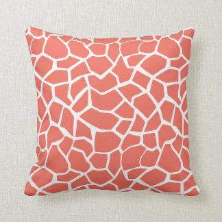 Bittersweet Color Giraffe Animal Print Pillow