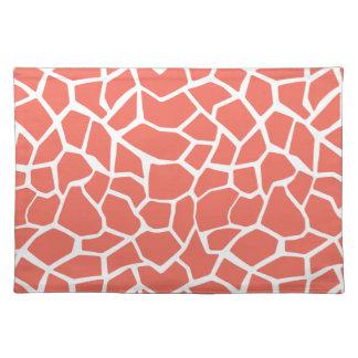 Bittersweet Color Giraffe Animal Print Place Mat