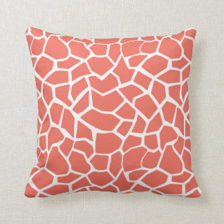 Bittersweet Color Giraffe Animal Print Throw Pillow