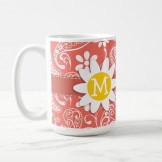 Bittersweet Color Paisley; Daisy Coffee Mugs