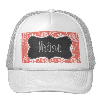 Bittersweet Color Paisley; Retro Chalkboard Trucker Hat