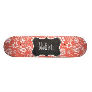 Bittersweet Color Paisley; Retro Chalkboard Skateboard Deck