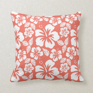Bittersweet Color Tropical Hibiscus; Flowers Throw Pillow