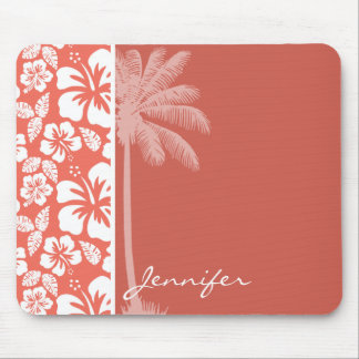 Bittersweet Color Tropical Hibiscus; Summer Palm Mouse Pad