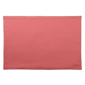 BITTERSWEET DARK (a pleasant solid salmon color) ~ Cloth Placemat