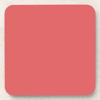BITTERSWEET DARK (a pleasant solid salmon color) ~ Coaster