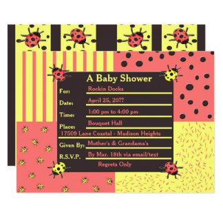 Bittersweet Ladybugs Baby Shower Invitation