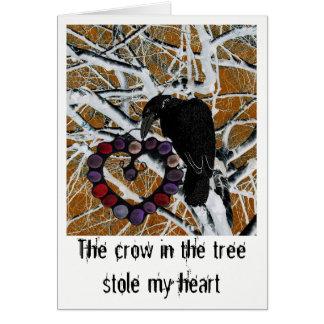 Bittersweet love message on a beautiful card