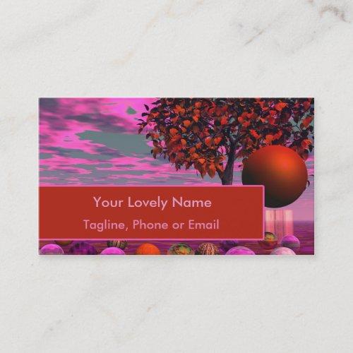 Bittersweet Opinion, Bronze Raspberry Maple Tree Business Card