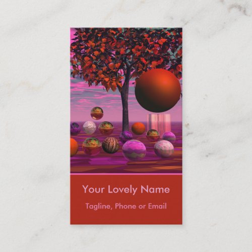 Bittersweet Opinion, Copper Raspberry Maple Tree Business Card