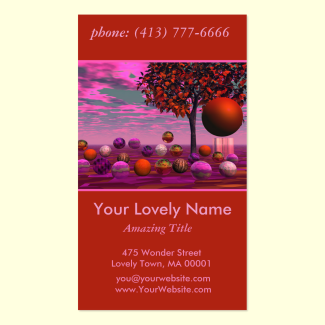 Bittersweet Opinion, Copper Raspberry Maple Tree Double-Sided Standard Business Cards (Pack Of 100)
