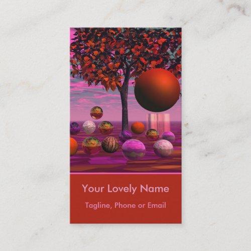 Bittersweet Opinion, Copper Raspberry Maple Tree Business Card