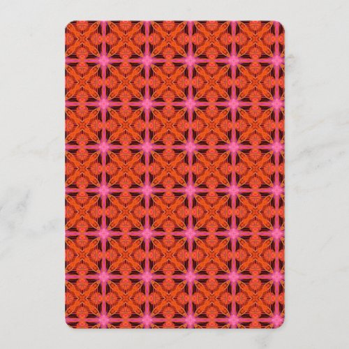 Bittersweet Pink Glowing Abstract Moroccan Lattice